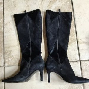Black Calfhair/Suede Mix Boot
